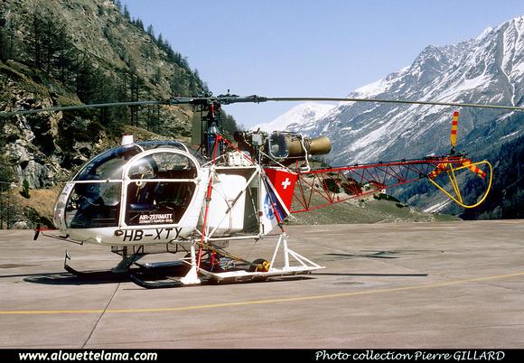 Pierre GILLARD: Air Zermatt - Alouettes & Lamas &emdash; XTY-006836