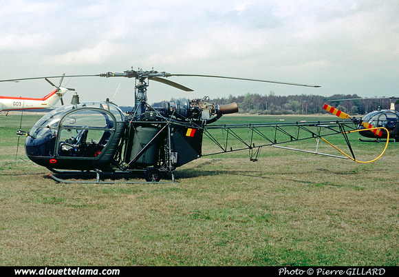 Pierre GILLARD: Aéronefs : Alouette II Astazou &emdash; A79-006596