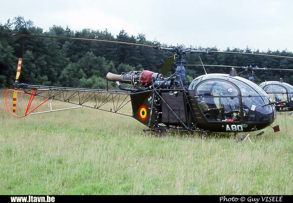 Pierre GILLARD: Aéronefs : Alouette II Astazou &emdash; A80-030145