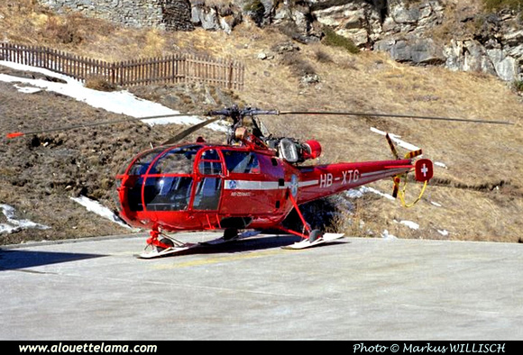 Pierre GILLARD: Air Zermatt - Alouettes & Lamas &emdash; XTG-005397