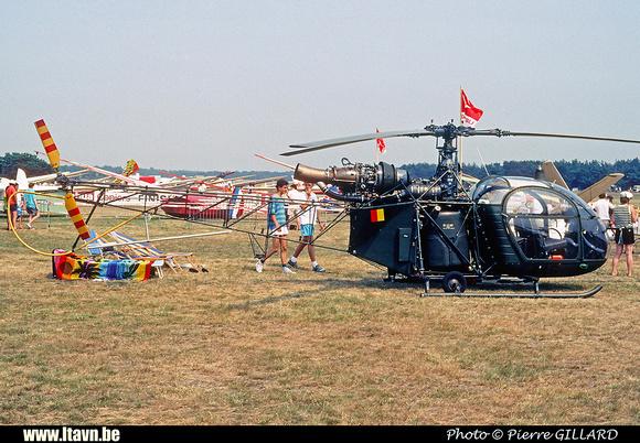 Pierre GILLARD: Aéronefs : Alouette II Astazou &emdash; A46-006458