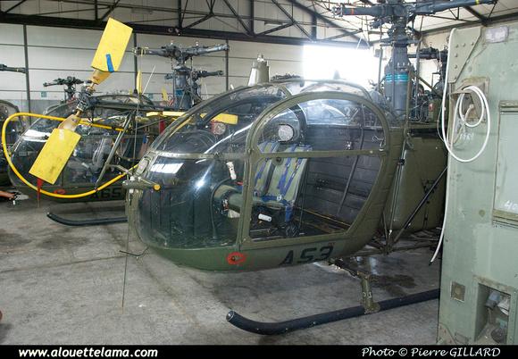 Pierre GILLARD: Aéronefs : Alouette II Astazou &emdash; A53-003675