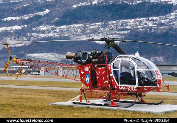 Pierre GILLARD: Air Zermatt - Alouettes & Lamas &emdash; XXE-005279