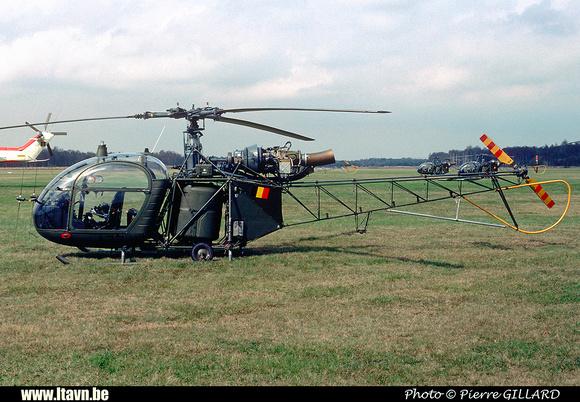 Pierre GILLARD: Aéronefs : Alouette II Astazou &emdash; A77-006591