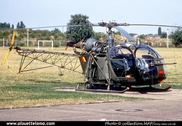 Pierre GILLARD: Aéronefs : Alouette II Astazou &emdash; A76-006586