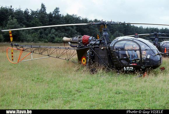 Pierre GILLARD: Aéronefs : Alouette II Astazou &emdash; A62-030134