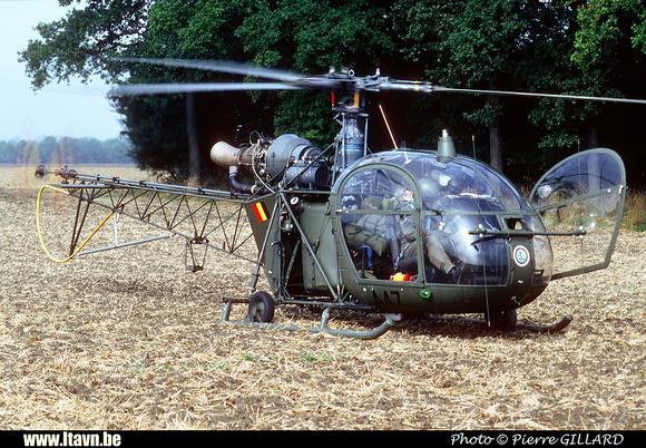 Pierre GILLARD: Aéronefs : Alouette II Astazou &emdash; A47-006466