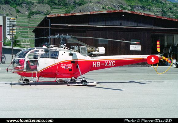 Pierre GILLARD: Air Glaciers - Alouettes & Lamas &emdash; XXC-073-1-31A