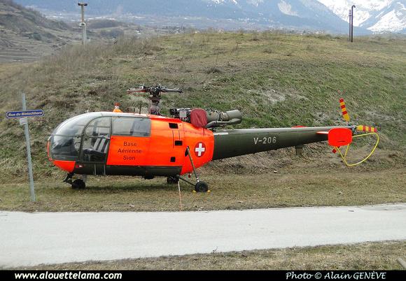 Pierre GILLARD: Forces Aériennes - Alouette III &emdash; V206-005853
