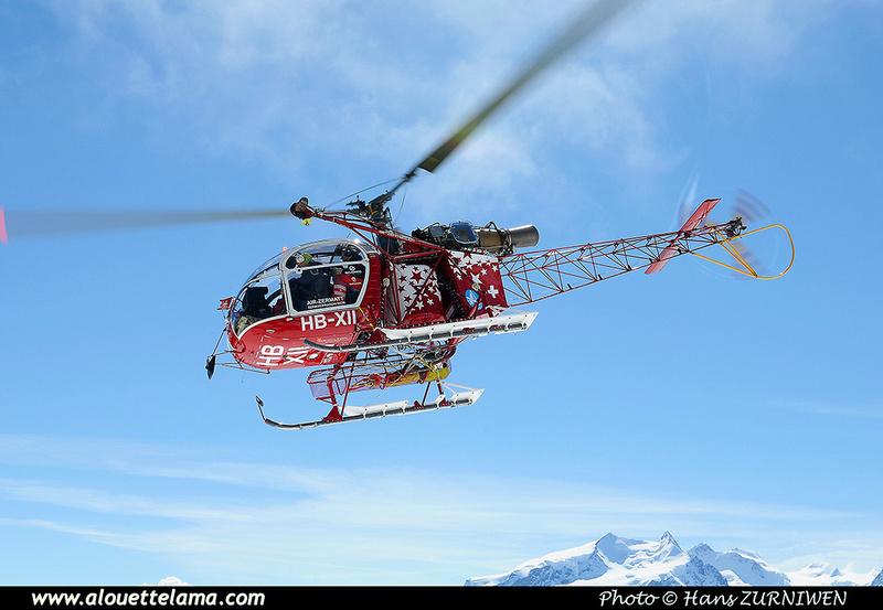 Pierre GILLARD: Air Zermatt - Alouettes & Lamas &emdash; XII-008324