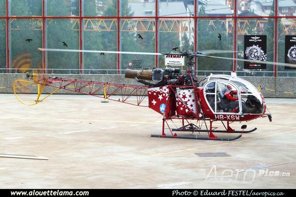 Pierre GILLARD: Air Zermatt - Alouettes & Lamas &emdash; XSW-005382