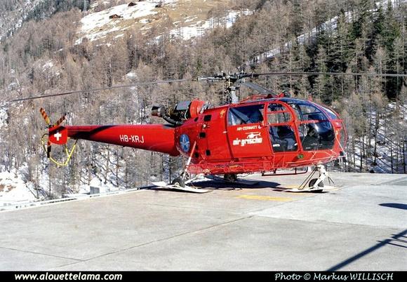 Pierre GILLARD: Air Zermatt - Alouettes & Lamas &emdash; XRJ-005398