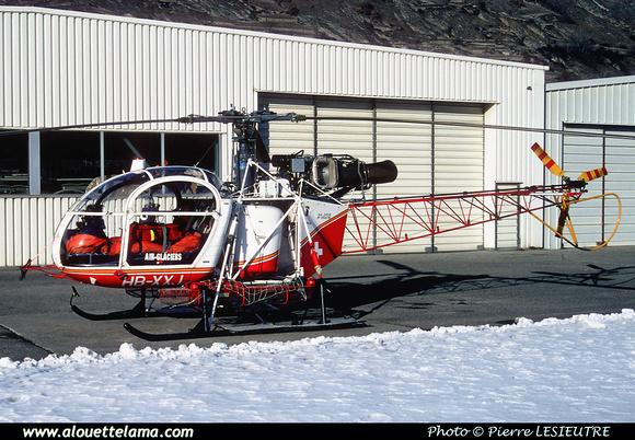 Pierre GILLARD: Air Glaciers - Alouettes & Lamas &emdash; XXJ-006048