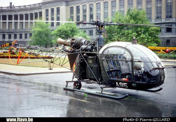 Pierre GILLARD: Aéronefs : Alouette II Astazou &emdash; A95-006578