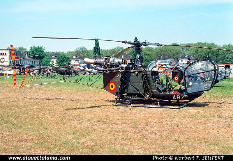 Pierre GILLARD: Aéronefs : Alouette II Astazou &emdash; A67-006543